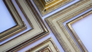 Rich and Davis Water-Gilded Contemporary and Traditional Gold Frames