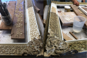 Rich and Davis ornate frame restoration compo ornament replacement