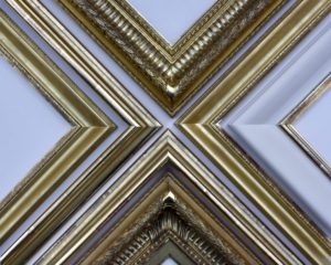 Rich and Davis gilded and burnished gold frames with white clay bole