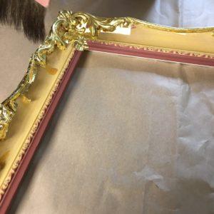 Rich and Davis water gilding gold ornamental custom frame