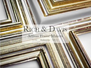 Showcasing gilded contemporary gold picture frames