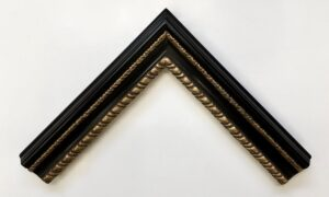 Carlo Maratta style picture frame with black clay bole and gold gilding