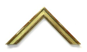 23K gold gilded picture frame medium sized with beads