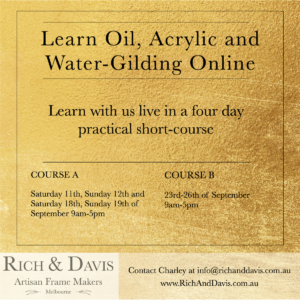 Learn oil, acrylic and water-gilding online